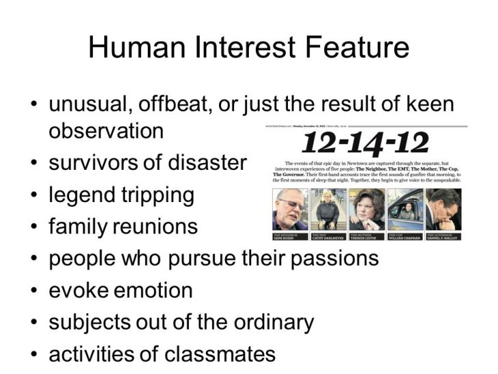 Human Interest Feature