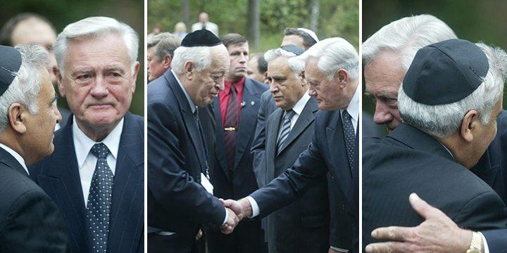 Paneriai, 2005 m. Izraelio prezidento Mošės Kacavo vizitas Lietuvoje