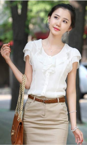 Блуза женская 171745 белый цвет