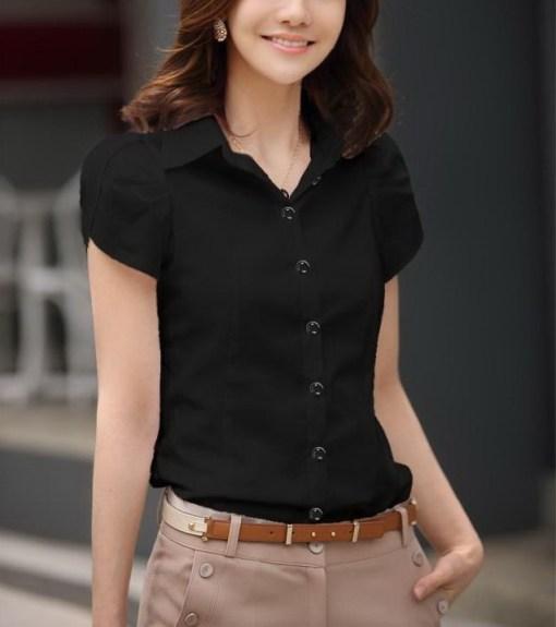 Блузка женская 171712 черный цвет
