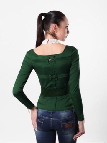 Блуза женская 1233 зеленый цвет
