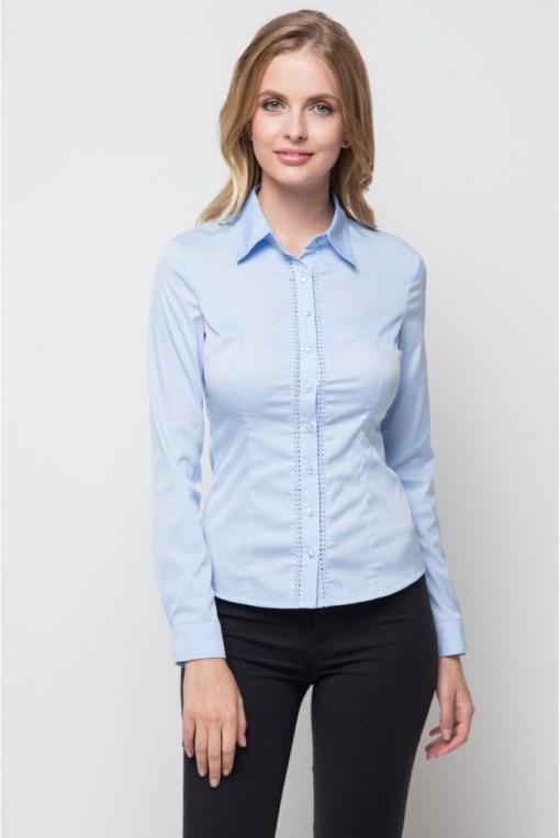 Блузка женская 13208 голубой цвет