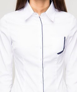 Блузка женская 132153 белый цвет