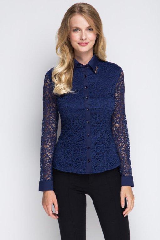Блузка женская 1337 темно-синий цвет