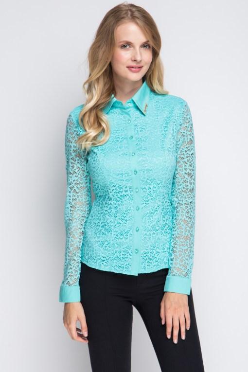 Блузка женская 1337 ментоловый цвет