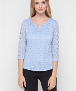 Блуза женская 1613 голубой цвет