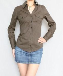 Блузка женская 171709 светло-коричневый цвет