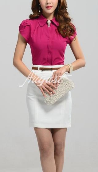 Блузка женская 171718 винный цвет