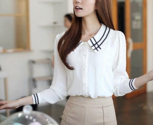 Блузка женская 171733 молочный цвет