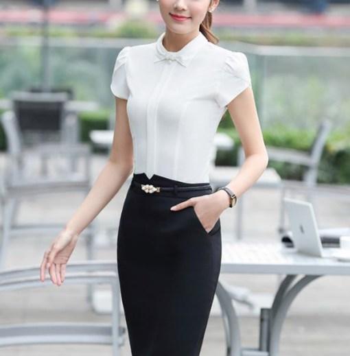 Блуза женская 171744 молочный цвет