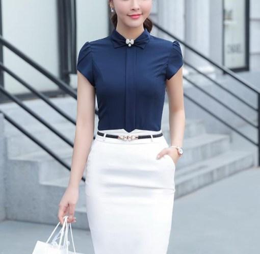 Блуза женская 171744 темно-синий цвет