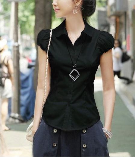 Блузка женская 171746 черный цвет