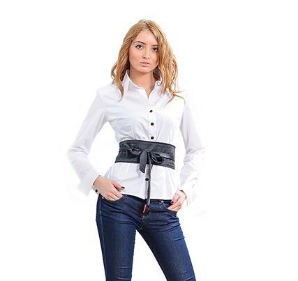 Блуза женская 171755 белый цвет
