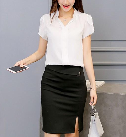 Блуза женская 171770 белый цвет