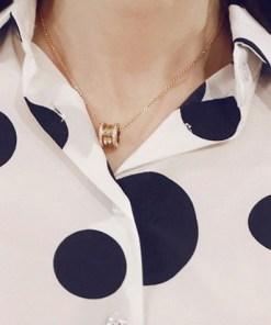 Блузка женская 171771 белый в черный горох