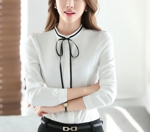 Блузка женская 171780 белый цвет