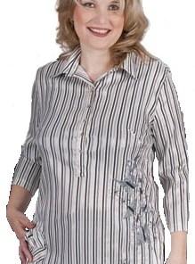Блузка женская 6451 кремово-серый цвет
