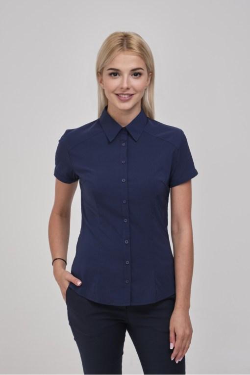 Блузка женская 8195-1 темно-синий цвет