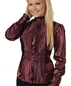 Блузка женская Аиша винный цвет