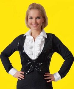 Блузка женская 859 черный цвет