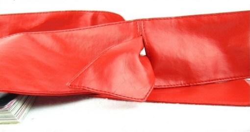 Пояс-кушак красный цвет