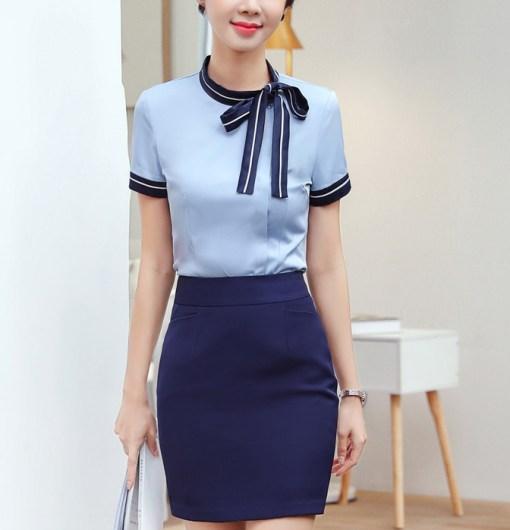 Блузка женская 171792 голубой цвет
