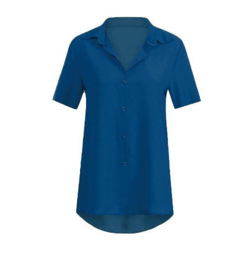 Блузка женская 1717100 синий цвет