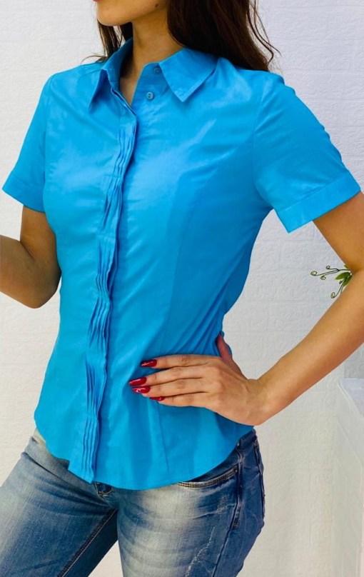 Блузка женская 1717106 ярко-голубой цвет
