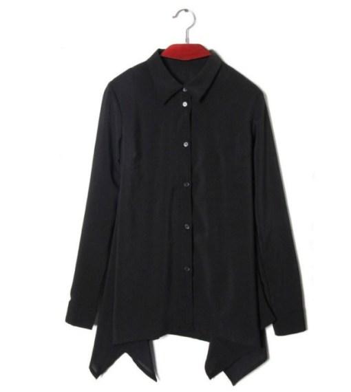 Рубашка женская 1717111 черный цвет
