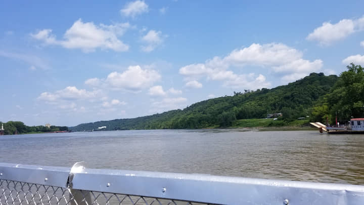 photo of Ohio River taken from the Anderson Ferry