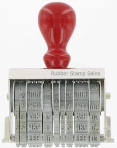 Band Stamps are ideal for stamping special information, figures, symbols or words not available on stock bands. #1 Rubber Stamp Supplier of Band Stamps.