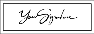 Custom signature stamps in two hours, 7 days a week. Free Delivery. Signature Stamps are ideal for signing letters and cards after an illness.
