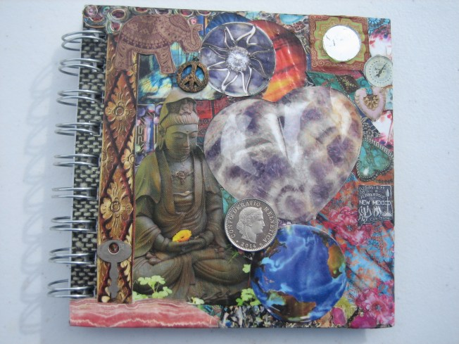 This is the front of the collaged book.