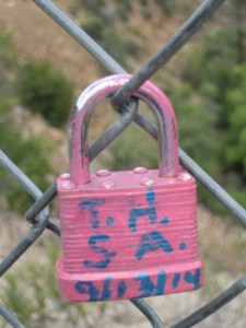 This lock was at South Creek Falls in California.