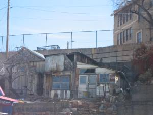 This photo shows one of the old buildings in Jerome that really piqued my interest.