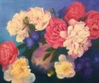 <h5>Laimes Ziedi</h5><p>Laimes ziedi / 120x100cm / Lina audekls / Eļļa / 2016 / Privātkolekcijā</p>