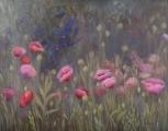<h5>Giverny magones</h5><p>70 x 90cm / Lina audekls / Eļļa / 2017</p>