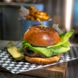 $14 for a grass fed Bison Burger.