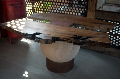 Teak wood, a traditonal wood used for its durability and beauty.