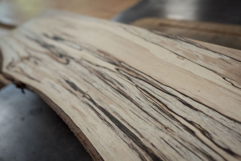Spalted Birch detail, thick Black Zone lines