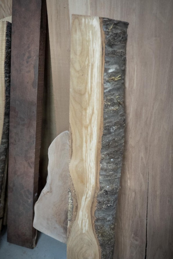 Have you seen spalted Cherry before? The white spots are white rot, its beginning of the decaying process.