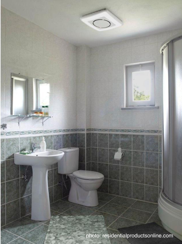 Bathroom exhaust fans typically come in one of three styles: ceiling-mounted,  wall-mounted or inline/remote. Ceiling-mounted fans are installed in the ... - Shhh....Bathroom Ventilation Fans - Rubenstein Supply Company