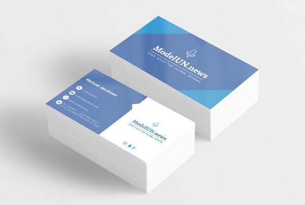 Model UN Business Cards