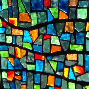 Church! Stained glass pieces fit together like the people of the church to make one beautiful design.