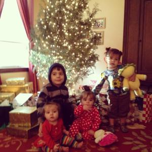 The kids last year on Christmas morning!
