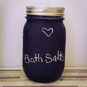 I painted the jars with chalk paint! (I know, my handwriting with chalk needs work!)