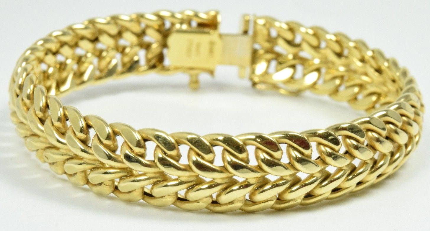 8fc6520be4d Women's Boomingdales Yellow Gold 14K Solid Gold Bracelet - Rubies ...