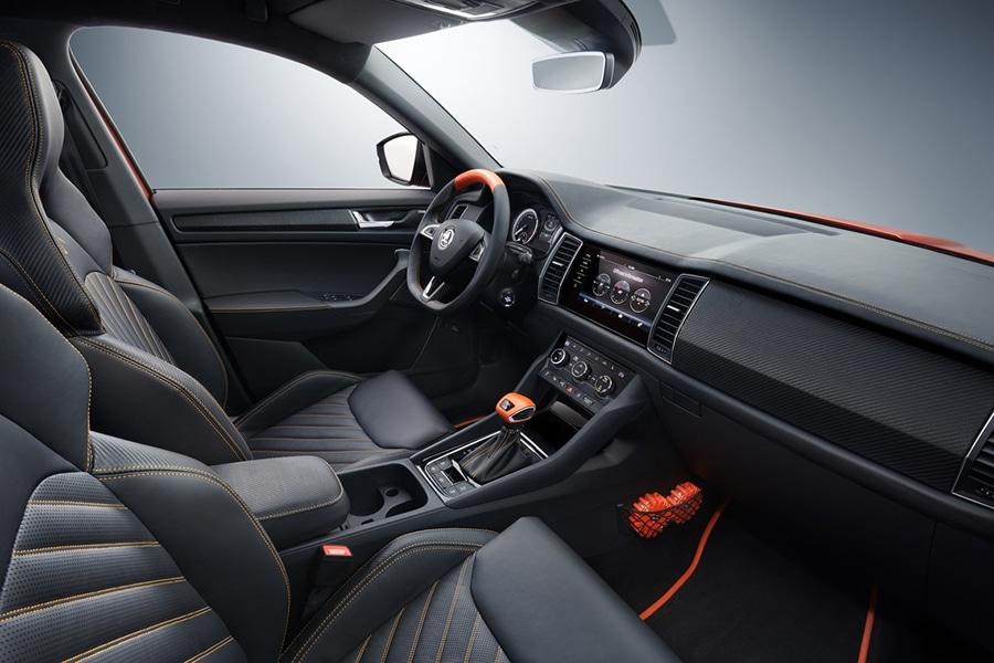 dashboard and steering of skoda mountiaq