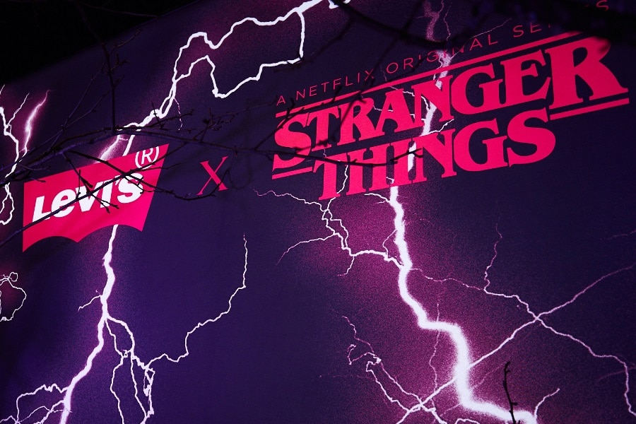 levi's stranger things launch party