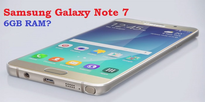 6GB Samsung Galaxy Note 7